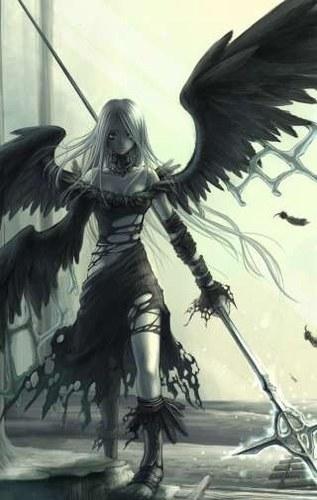 manga gothique gothic ange déchu halloween