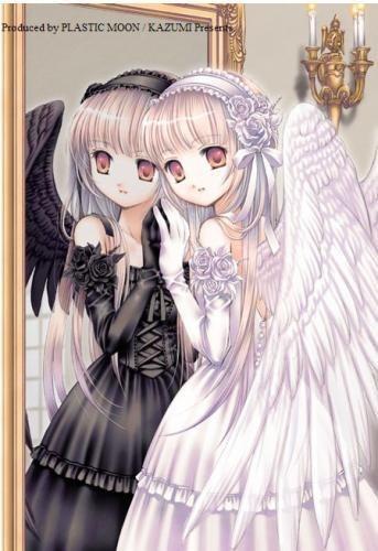 manga image angelsan ange démon miroir double schizophrénie
